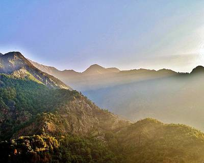 Photograph - Morning Sunrays Himalayas by Kim Bemis