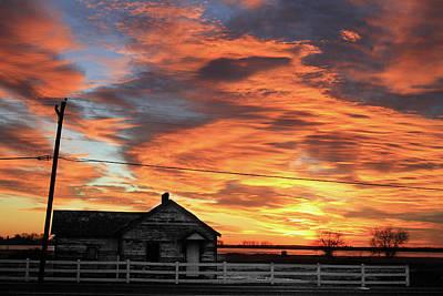 Morning Sunrise 2-14-2011 Art Print by James BO  Insogna