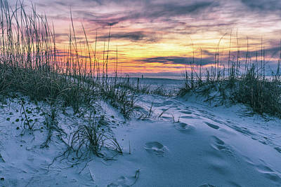 Print featuring the photograph Morning Sunrise At The Beach by John McGraw