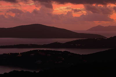 Art Print featuring the photograph Morning Sunrise From St. Thomas In The U.s. Virgin Islands by Jetson Nguyen