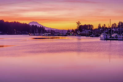 Photograph - Morning Sunrise In Gig Harbor by Ken Stanback