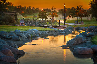Photograph - Morning Sunrise In The Park by Connie Cooper-Edwards