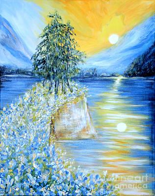 Painting - Morning Sunrise. Inspirations Collection by Oksana Semenchenko