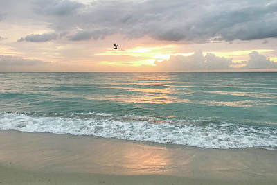 Photograph - Morning Sunrise - Miami Beach by Art Block Collections