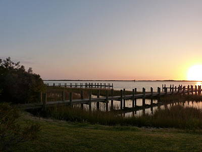Art Print featuring the photograph Morning Sunrise Over Assateaque Island by Donald C Morgan