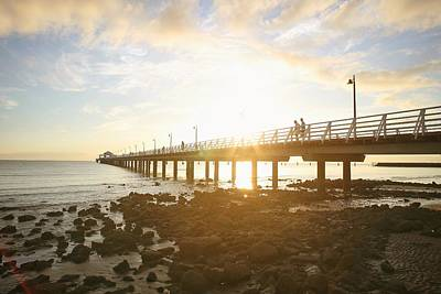 Photograph - Morning Sunshine At The Pier  by Keiran Lusk