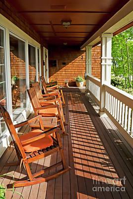 Morning Sunshine On The Porch Art Print by Maria Janicki