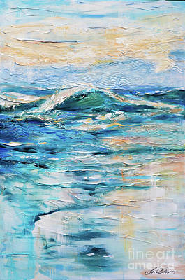 Painting - Morning Surf by Linda Olsen