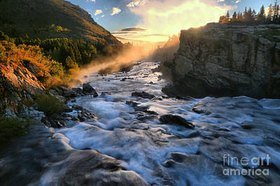 Photograph - Morning Swiftcurrent Sunbeam by Adam Jewell