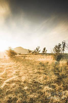 Rural Landscapes Photograph - Morning Tasmanian Fog Landscape by Jorgo Photography - Wall Art Gallery