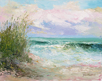Seascape Wall Art - Painting - Morning Tide by Jane Woodward