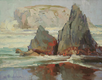Beach Oil Painting - Morning Tide by Steve Henderson