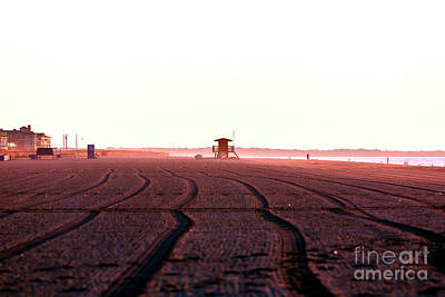 Photograph - Morning Tracks At Cape May by John Rizzuto