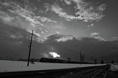 Photograph - Morning Train In Black And White by Scott Sawyer