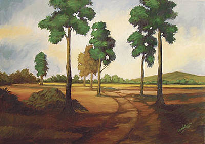 Painting - Morning Trees by Deon West