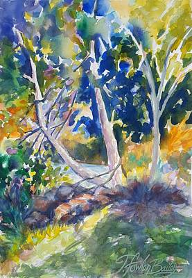 Painting - Morning Trees On The Susan River by Therese Fowler-Bailey