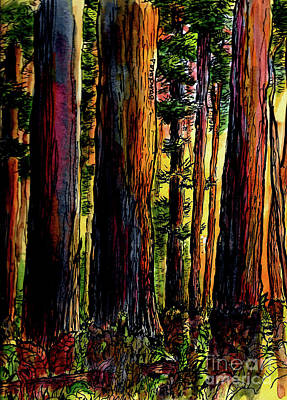 Painting - Morning Trees by Terry Banderas