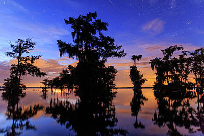 Photograph - Morning Twilight At The Lake by Stefan Mazzola