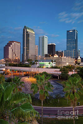Photograph - Morning Twilight Over Tampa by Brian Jannsen