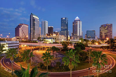 Photograph - Morning Twilight Over Tampa II by Brian Jannsen