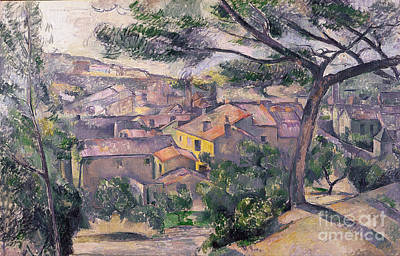 Estaque Painting - Morning View Of L'estaque Against The Sunlight by Cezanne
