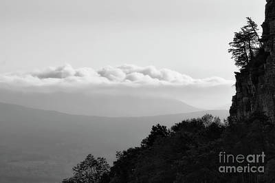 Photograph - Morning View Pilot Mountain  Bw by Patrick M Lynch