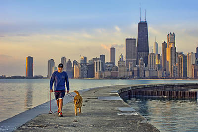 Photograph - Morning Walk 2 - North Avenue Beach - Pier - Chicago by Nikolyn McDonald