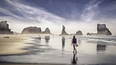 Morning Walk At The Beach Original