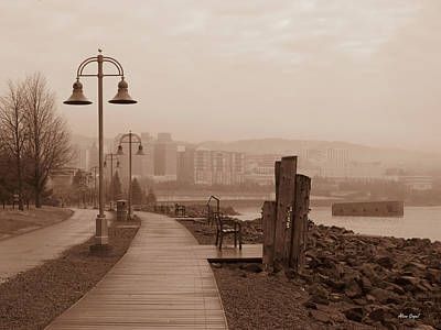 Duluth Photograph - Morning Walk At The Lakewalk by Alison Gimpel