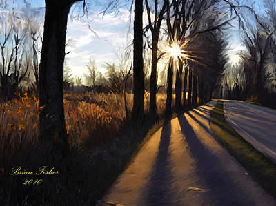 Pathway Digital Art - Morning Walk by Brian Fisher