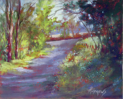 Painting - Morning Walk Frayssinet, France by Rae Andrews
