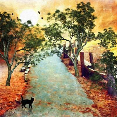 Painting - Morning Walk by Gabriella Weninger - David