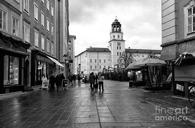 Photograph - Morning Walk In The Square by John Rizzuto