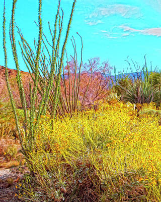 Tumbleweed Painting - Morning Walk Mohave Desert by Dominic Piperata
