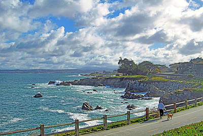 Photograph - Morning Walk, Pacific Grove Ca by Jim Pavelle
