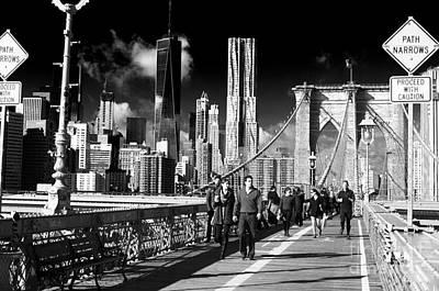 Winter Sleep Photograph - Morning Walk To Brooklyn by John Rizzuto