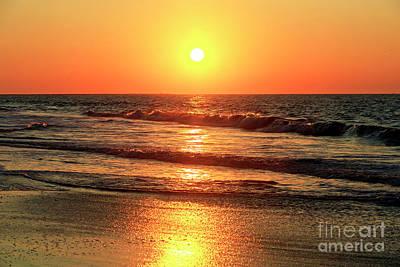 Photograph - Morning Waves At Cape May by John Rizzuto