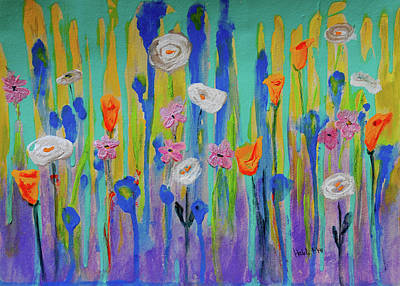Painting - Morning Wildflowers by Haleh Mahbod