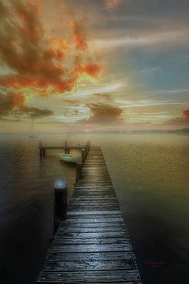 Wooden Platform Photograph - Mornings First Light by Marvin Spates
