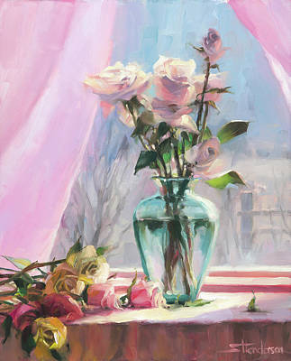 Abstract Rose Wall Art - Painting - Morning's Glory by Steve Henderson