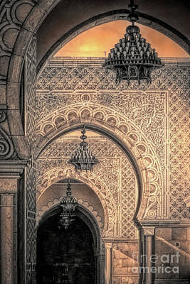 Mixed Media - Moroccan Arches, Printerly by Susan Lafleur
