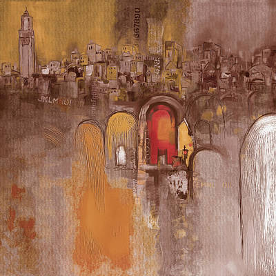 Portugal Art Painting - Moroccan Architecture 182 I by Mawra Tahreem