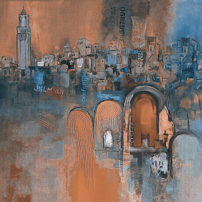 Portugal Painting - Moroccan Architecture 182 IIi by Mawra Tahreem