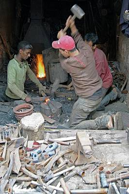 Photograph - Moroccan Blacksmiths. by David Birchall