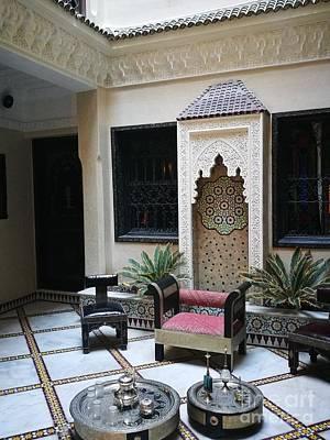 Moroccan Courtyard Art Print