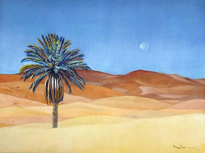 Painting - Moroccan Desert Palm Illusion by Mary Dove