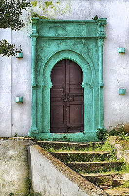 Rabat Photograph - Moroccan Door by Lindley Johnson
