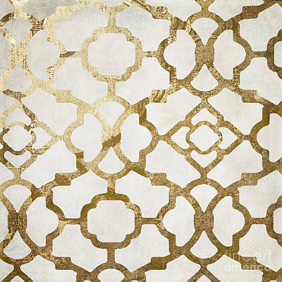 Pattern Painting - Moroccan Gold I by Mindy Sommers