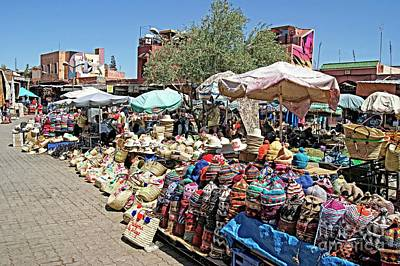 Photograph - Moroccan Market Place by David Birchall