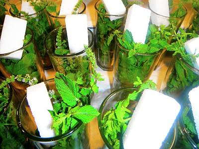 Exploramum Photograph - Moroccan Mint Tea In A Glass by Exploramum Exploramum